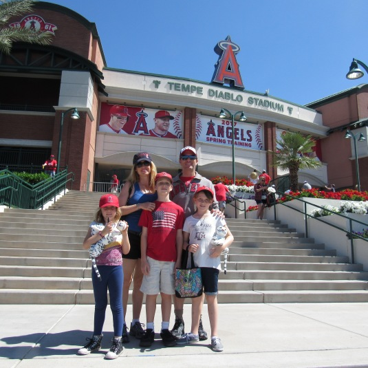 family outside tempe diablo stadium