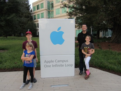 Apple picture with Dad!