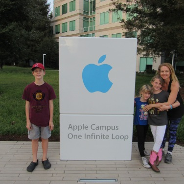 Apple picture with Mom!