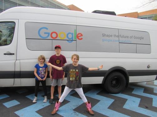 A Google truck.